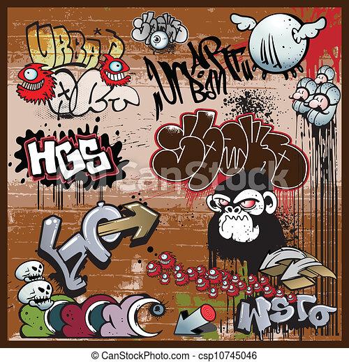 graffiti urban art elements - csp10745046