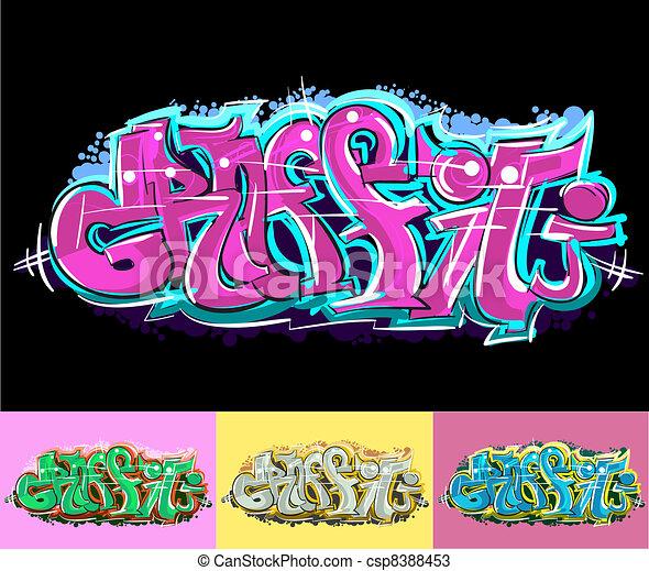 Graffiti urban art - csp8388453