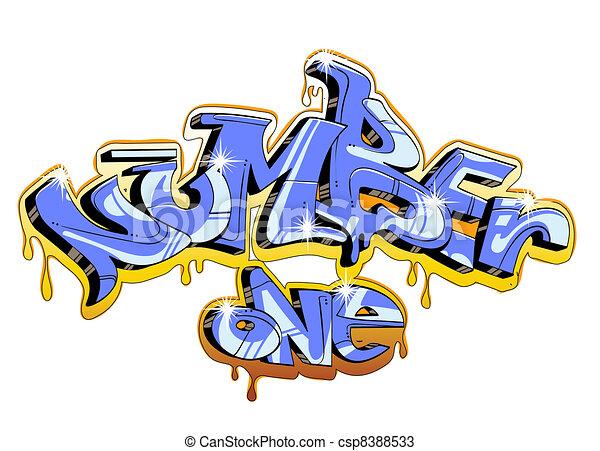 Graffiti urban art - csp8388533