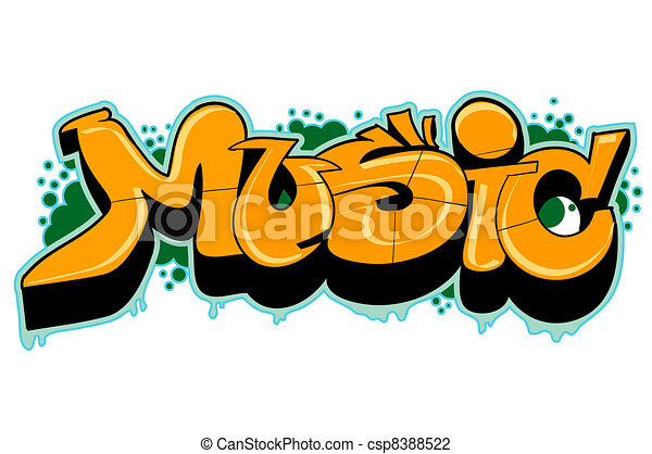 Graffiti urban art - csp8388522