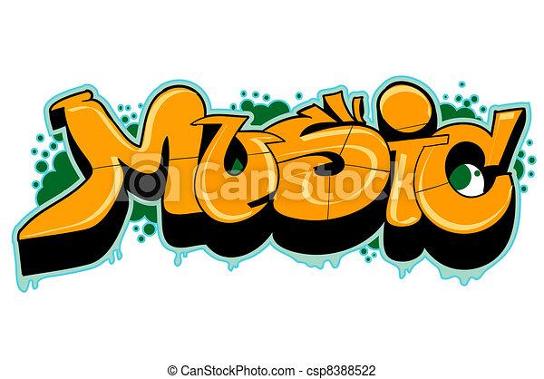 Graffiti urban art - csp8388522