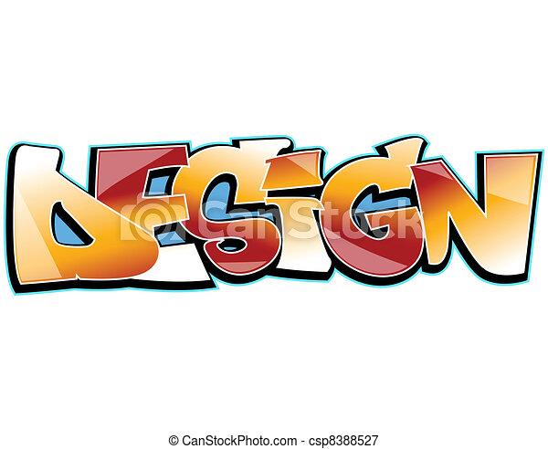 Graffiti urban art - csp8388527