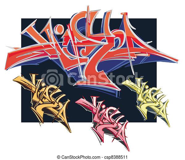 Graffiti urban art - csp8388511
