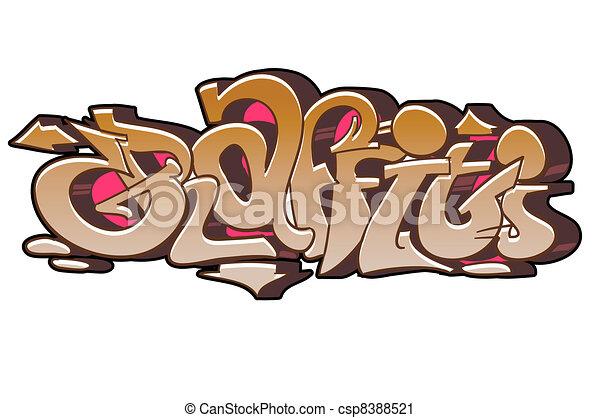 Graffiti urban art - csp8388521