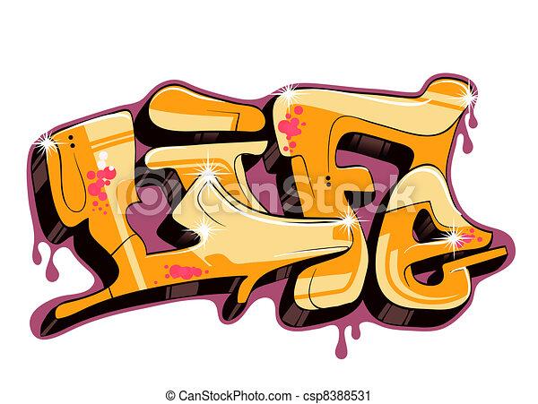 Graffiti urban art - csp8388531