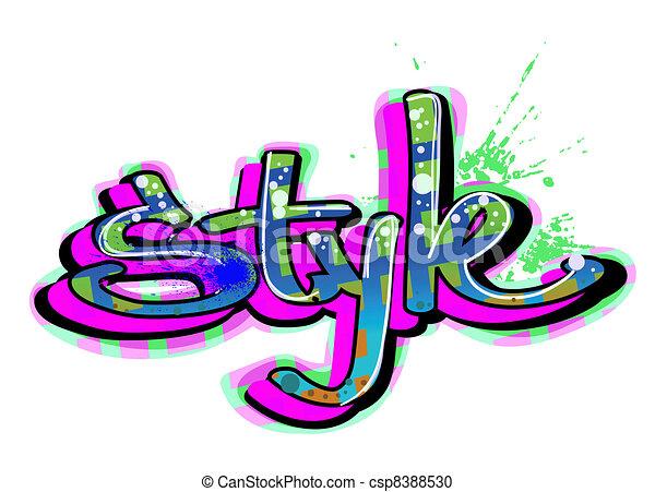 Graffiti urban art - csp8388530