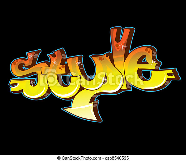 Graffiti Urban Art Vector Illustration - csp8540535