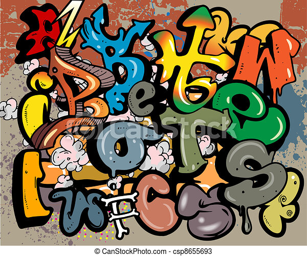 graffiti vector elements - csp8655693