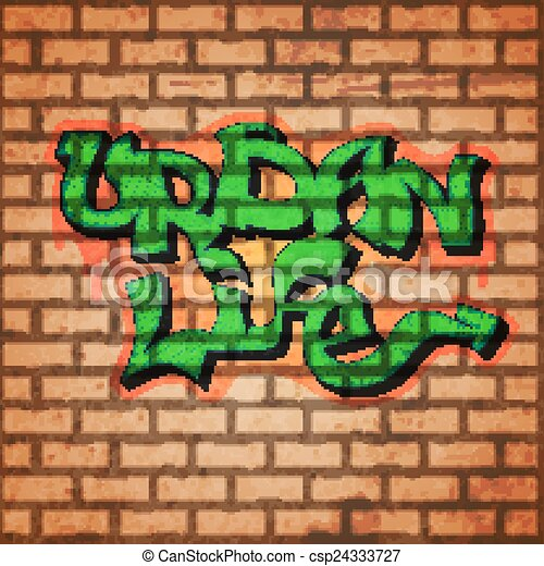 Graffiti Wall Background Concept With Brick And Urban