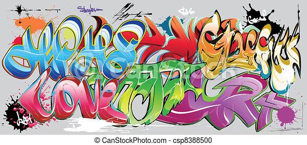 graffiti wall - csp8388500