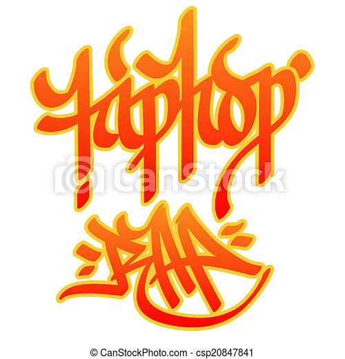 graffito, hip-hop, rap - csp20847841