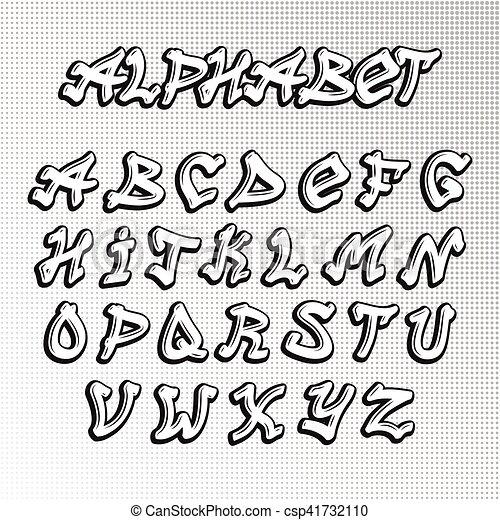 Graffity font vector