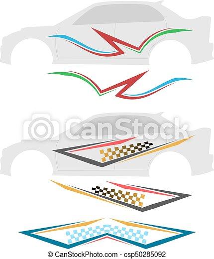 grafica, striscia, veicolo, pronto, :, vinile - csp50285092