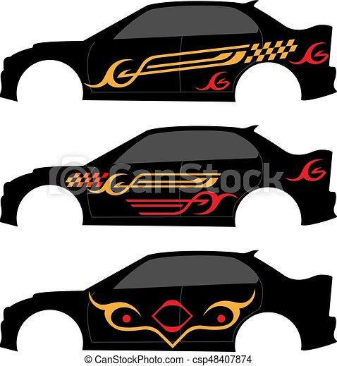 grafica, striscia, veicolo, pronto, :, vinile - csp48407874