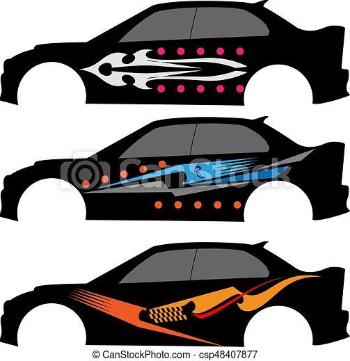 grafica, striscia, veicolo, pronto, :, vinile - csp48407877
