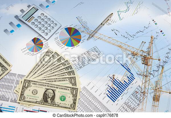 grafici, finanziario, tabelle, affari - csp9176878