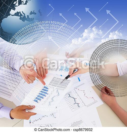 grafici, finanziario, tabelle, affari - csp8679932