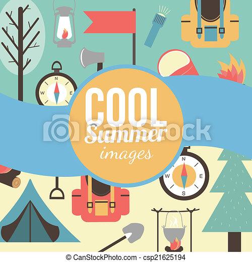 Graficke Pozadi Uprazdneni Letni Cas Cestovani Hora Symbols