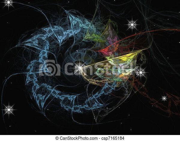 grafický návrh, systém, sluneční - csp7165184
