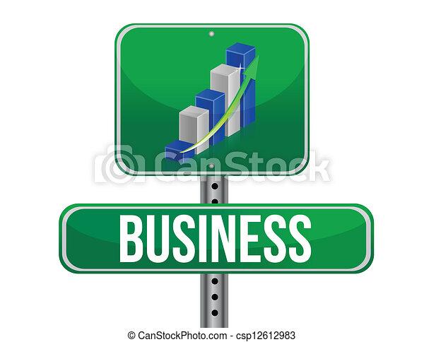 grafico, -, affari firmano - csp12612983