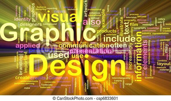 grafico, ardendo, concetto, disegno, fondo - csp6833601