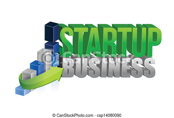 grafico, avvio, affari firmano - csp14080090