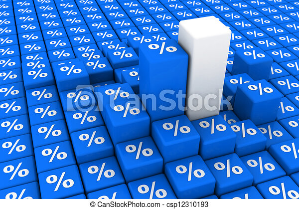 grafico, percentuale, muovendosi - csp12310193