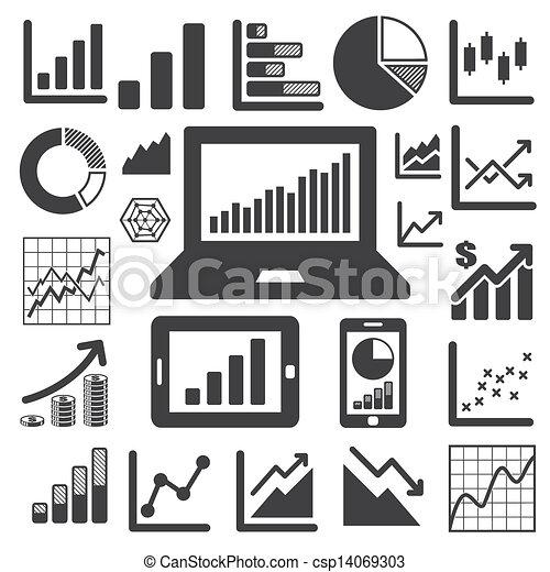 grafico, set, icona, affari - csp14069303