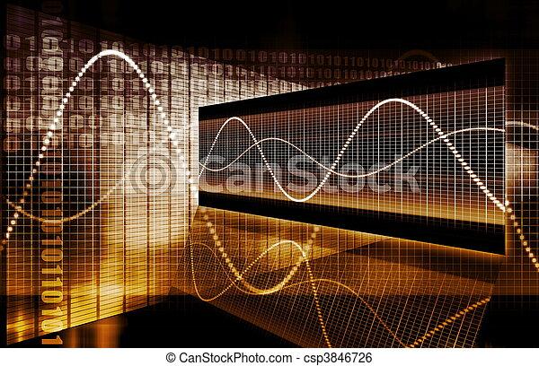 grafico, tecnologia, finanza, foglio elettronico - csp3846726