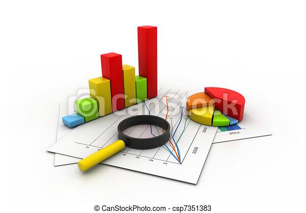 grafiek, analyzing, zakelijk - csp7351383