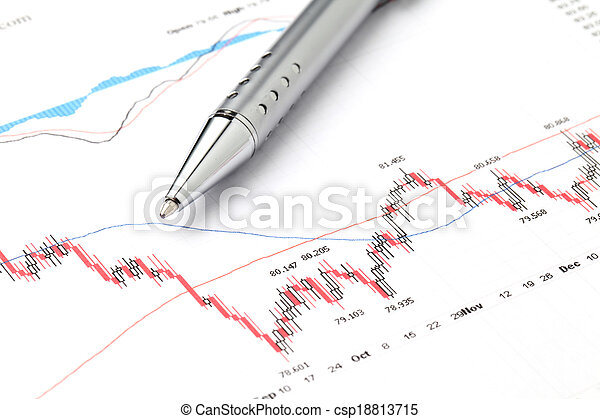 grafiek, markt, liggen - csp18813715