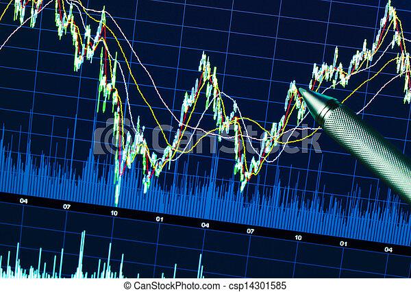 grafiek, markt, liggen - csp14301585