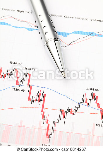grafiek, markt, liggen - csp18814267