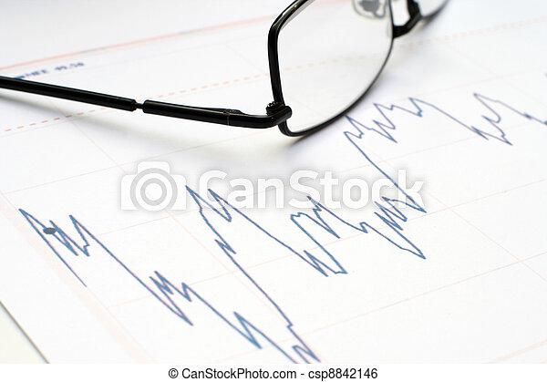 grafiek, markt, liggen - csp8842146