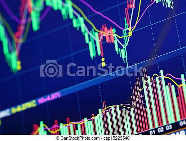 grafiek, markt, liggen - csp15223540
