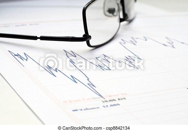 grafiek, markt, liggen - csp8842134