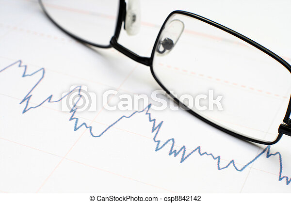 grafiek, markt, liggen - csp8842142