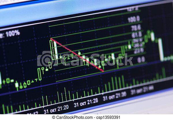 grafiek, markt, liggen - csp13593391