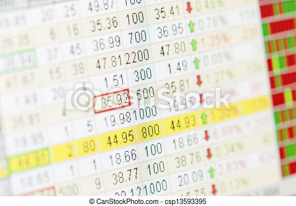 grafiek, markt, liggen - csp13593395