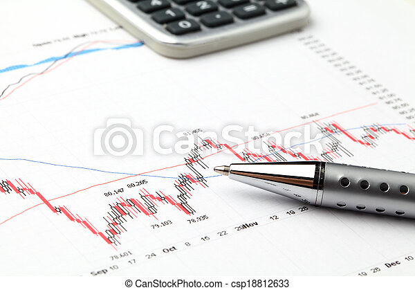grafiek, markt, liggen - csp18812633