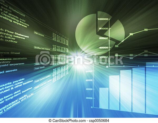 grafieken, spreadsheet - csp0050684