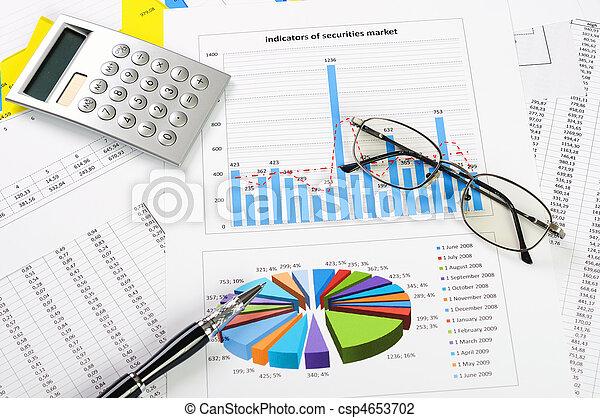 grafieken, verkoopgrafieken - csp4653702