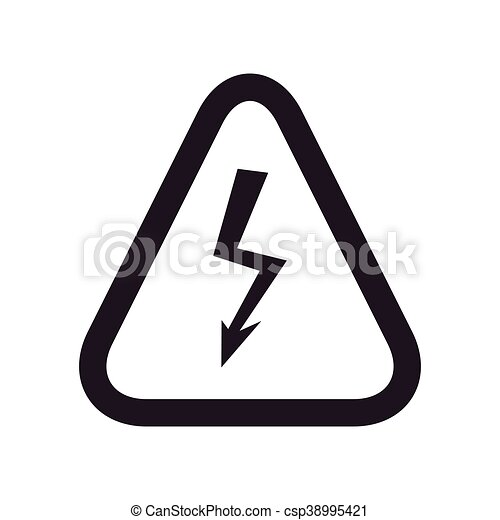 Thunder Road-Zeichen-Warnsymbol. Vektorgrafik - csp38995421