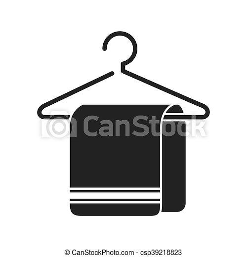 Kleiderbügel clipart  Vektor Illustration von grafik, handtuch, hotel, vektor ...