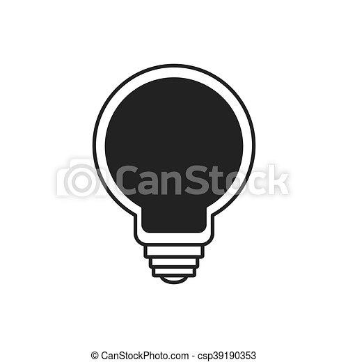 grafik, magt, lys, energi, vektor, pære, icon. - csp39190353