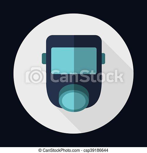 grafik, maske, luft, vektor, sicherheit, industrie, sicherheit, icon. - csp39186644
