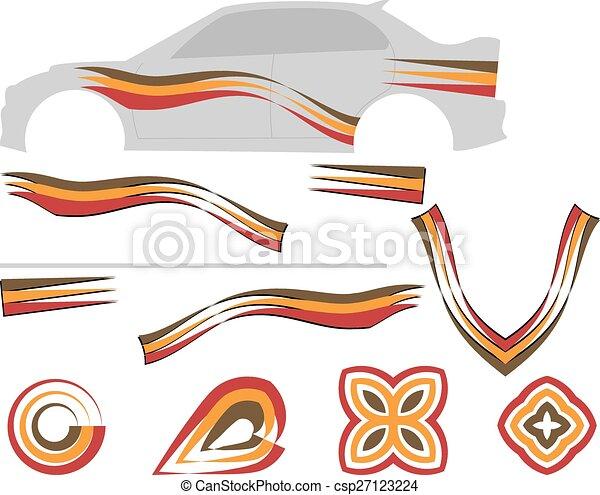 grafika, pas, pojazd, gotowy, :, winyl - csp27123224