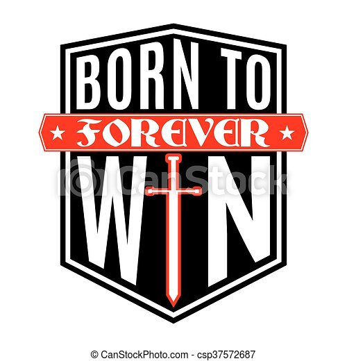 grafisch, hemd, winnen, typografie, geboren, t - csp37572687