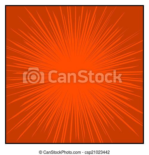 grafisch, komieken, lijnen, effects., kleur, vector, radiaal, snelheid - csp21023442