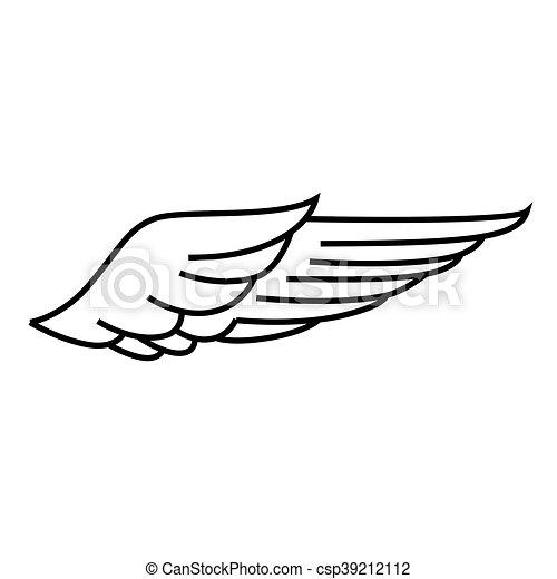 New Grafisch, vrijheid, symbool, vector, vleugel, pictogram. Vlieg @HA53